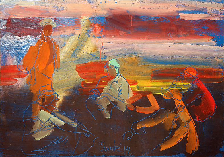 Sunset workers, Saule Suleimenova