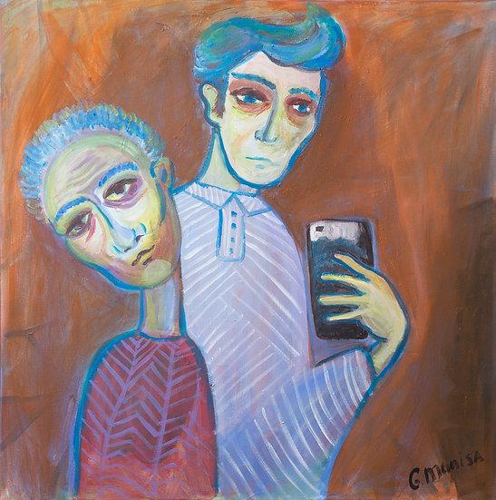 Selfy with a friend, Munissa Gulieva