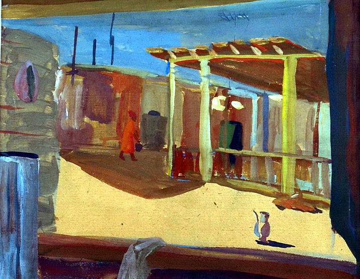 Sunny patio, Moldakul Narymbetov