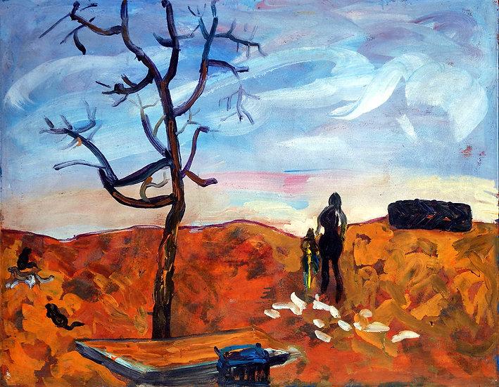 Untitled landscape, Moldakul Narymbetov