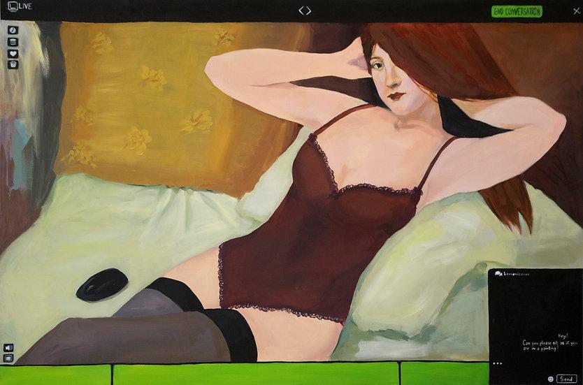 Webcam painting, Nazira Karimi