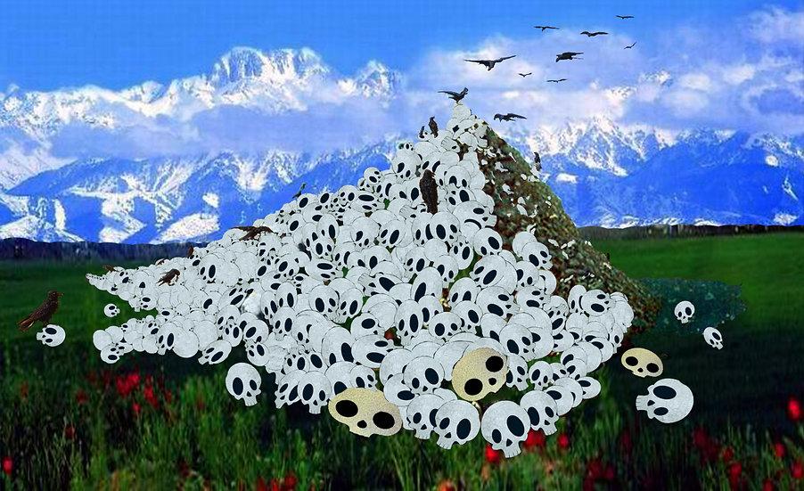 Apotheosis of war, remake, Bakhyt Bubikanova