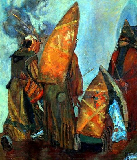 Rite with Austrian artists, Moldakul Narymbetov