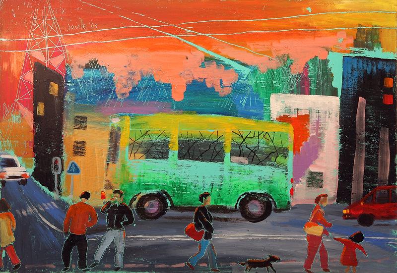 Green bus, Saule Suleimenova