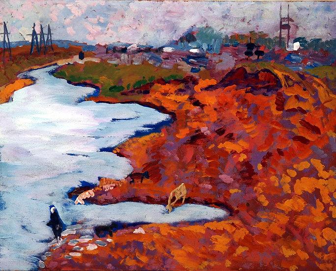 Watering place, Moldakul Narymbetov