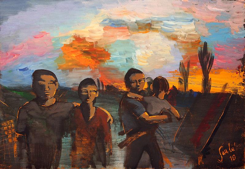 Goodbuy at Sunset, Saule Suleimenova