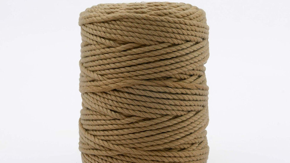 3 Ply/Twisted Brown Color Macrame Polyester Cord/Dori (100m, 3mm)