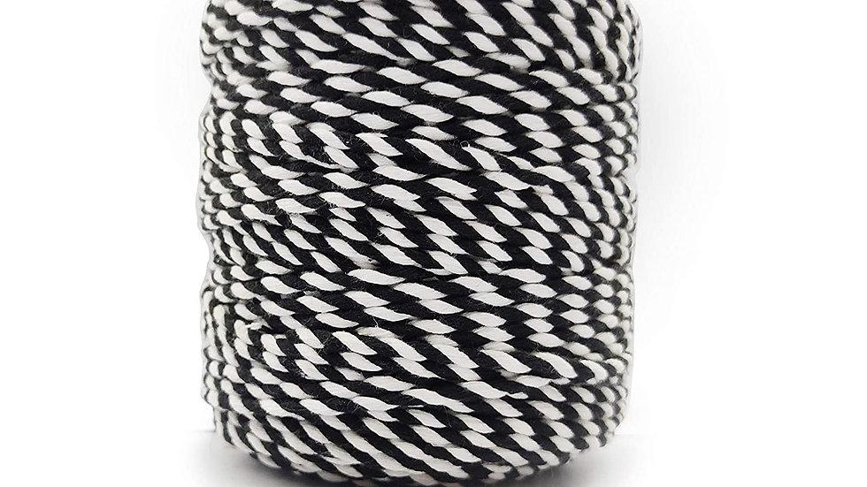 2 Ply/Twisted Multicolor Macrame Cord/Dori Thread (10 Meters, 4mm)