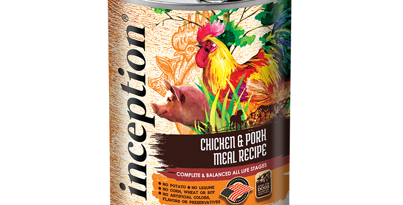 Inception Chicken & Pork Recipe Dog Canned 369g