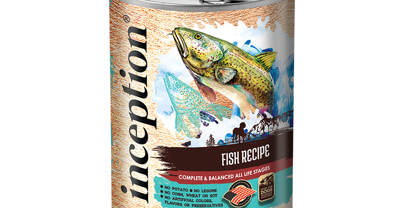 Inception Fish Recipe Dog Canned 369g