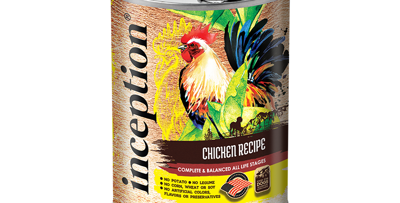 Inception Chicken Recipe Dog Canned 369g