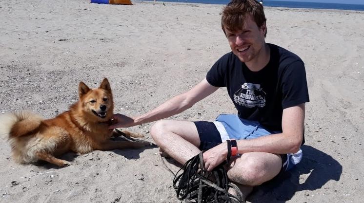 Plumi en ik op het strand