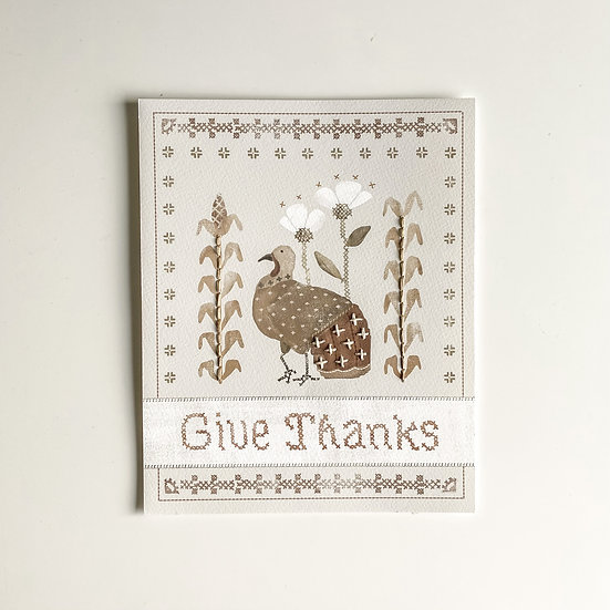 Thanksgiving | Hand Embroidered