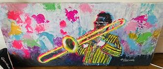 AATQ Golf Cecil Bernard Painting Trombonist