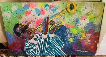 AATQ Golf Cecil Bernard Painting Trumpetier
