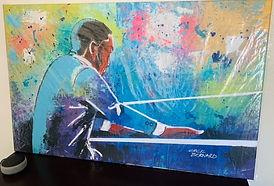 AATQ Golf Cecil Bernard Painting Large Pianist