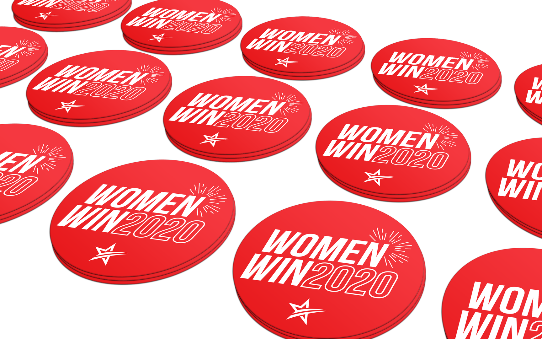 Red Lapel Stickers
