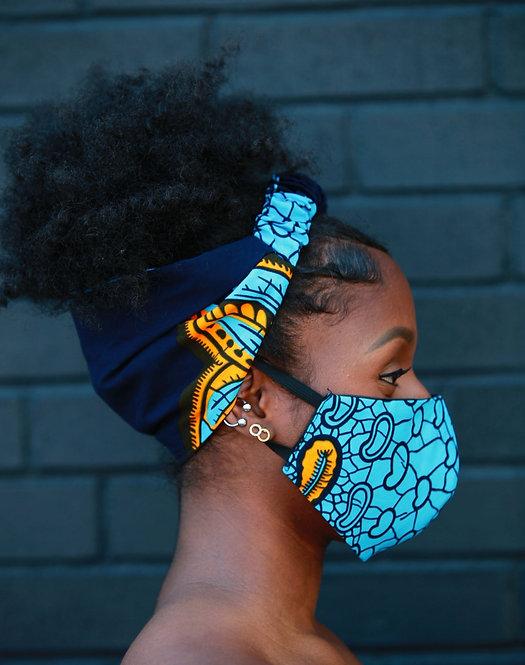 Afriq headband and facemask