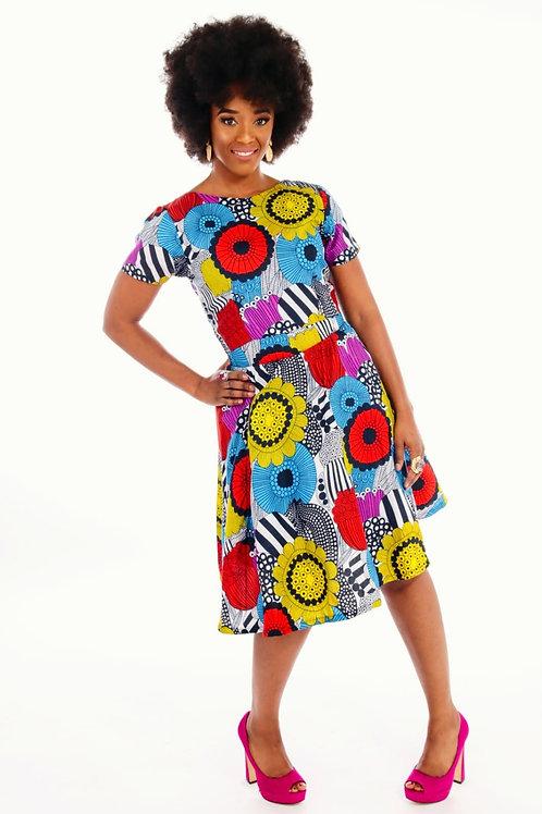 Tyra crop top and skirt
