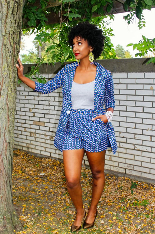 Shian Blazer& Shorts Set