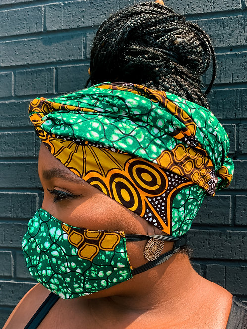 Afriq Headwrap & Mask