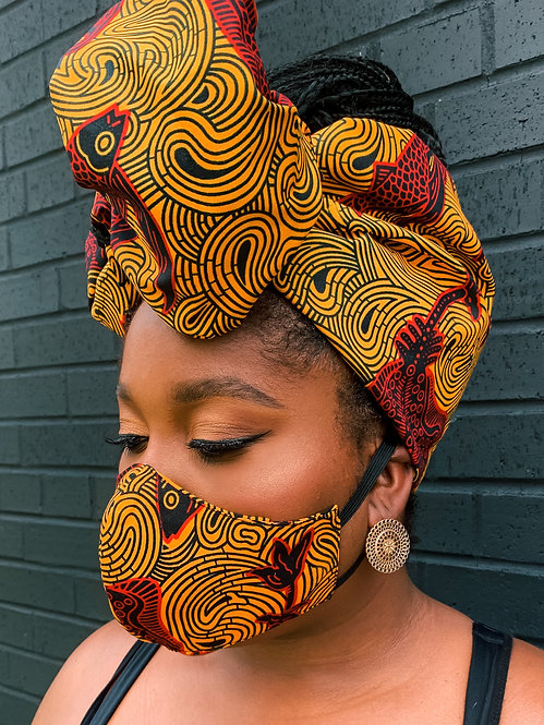 Afriq Headwrap & Mask