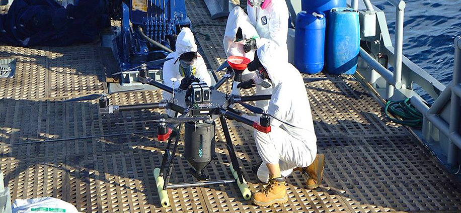 ECT baiting drones conservation