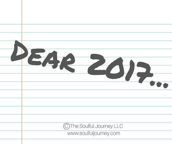 Dear 2017...