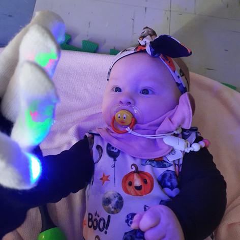 baby rave gloves