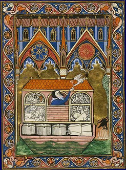Genesis 8:11 Psautier saint Louis