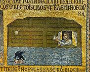 Genesis 8:7-8 Byzantine mosaic in the Basilica Church of San Marco
