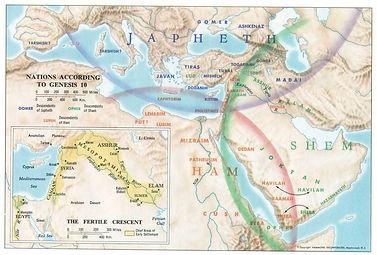 Genesis 9:19 Ham Shem Japheth Noah