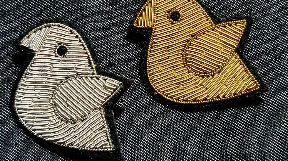 Gold Bird - Gold Work Brooch