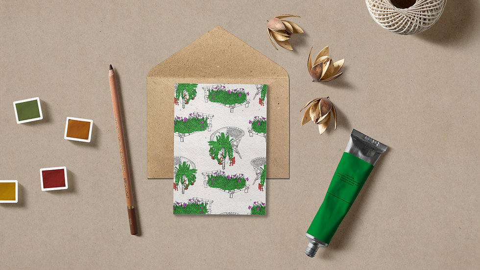 Seed embed plantable greeting card-Nature Taking Over - 1