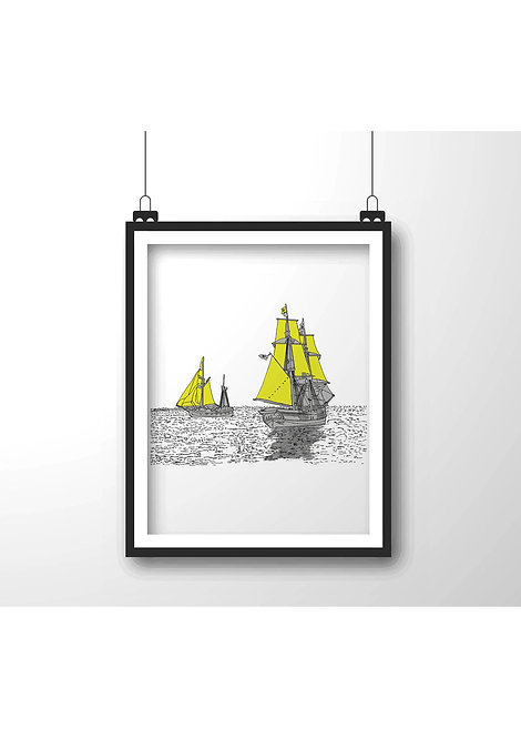 sailboat,Framed wall decor