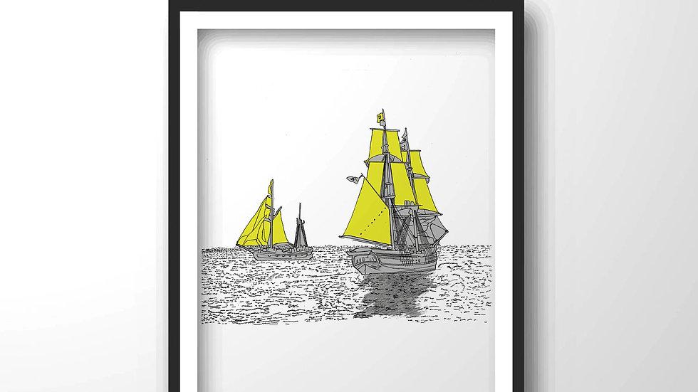 sailboat,Framed wall decor