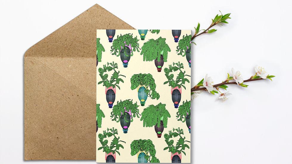 Seed embed plantable greeting card-Planters -Reused Plastic Bottles- 7