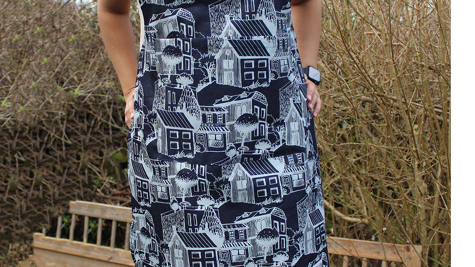 hand printed apron,Denim BBQ Grill Apron ,Quality Grilling Apron With Pockets -