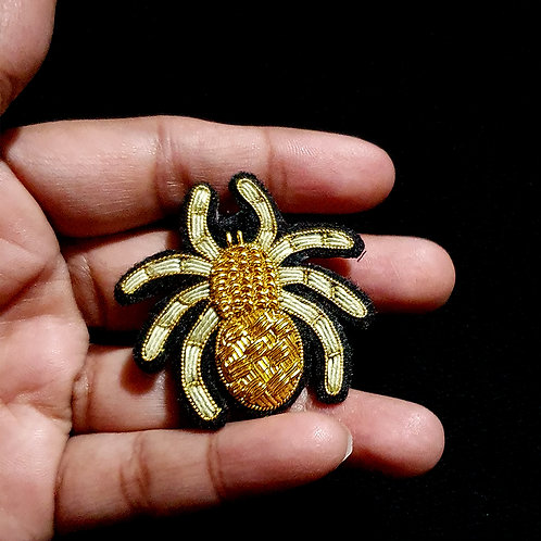 Spider  - Gold Work Brooch