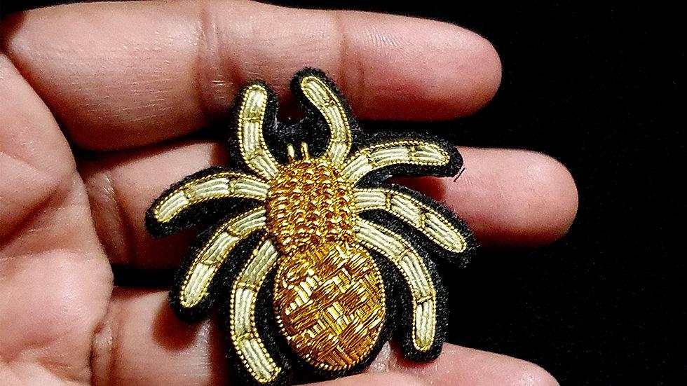 Spider  - Gold Work Brooch