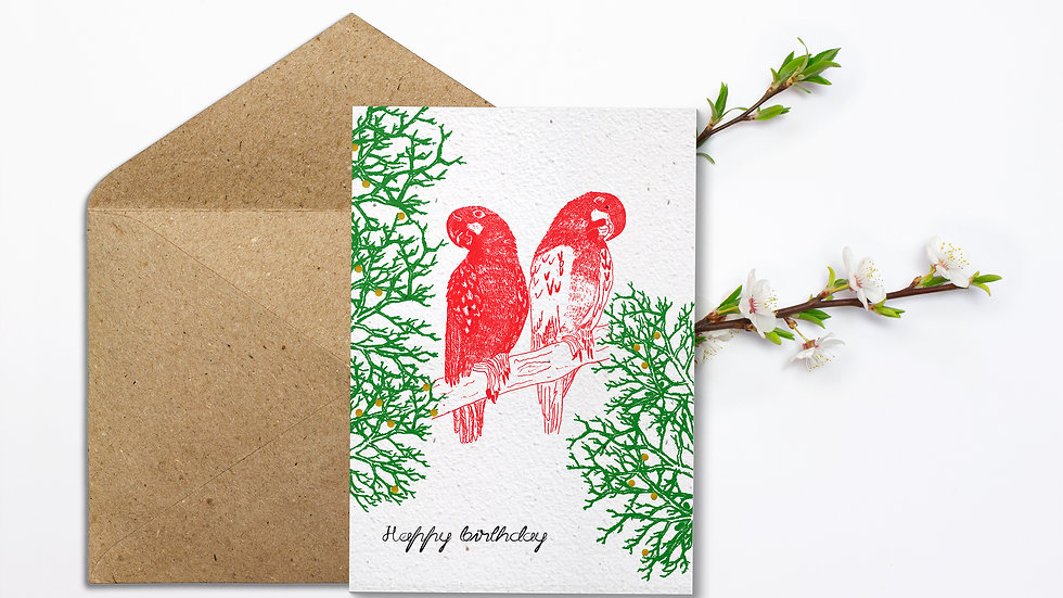 Seed embed plantable greeting card-Best Friends