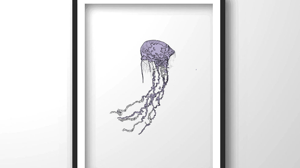 jellyfish,Framed wall decor