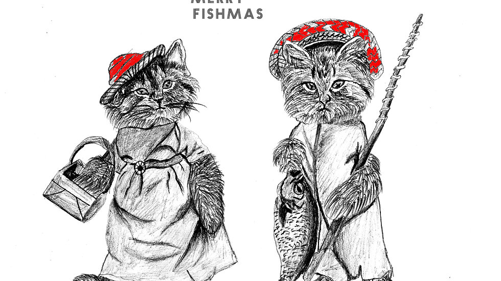 seed embed plantable greeting card ,merry fishmas