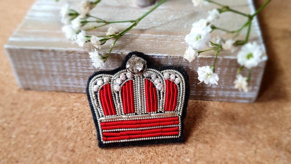 Queen Crown - Gold Work Brooch