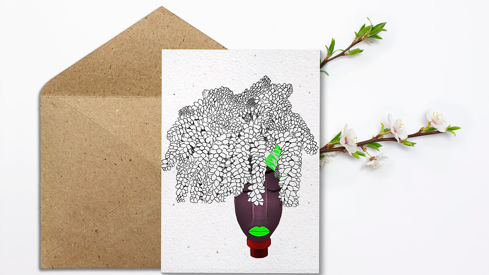 Seed embed plantable greeting card-Planter -Reused Plastic Bottles- 1