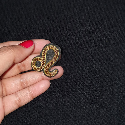 LEO - Zodiac Sign    - Gold Work Brooch