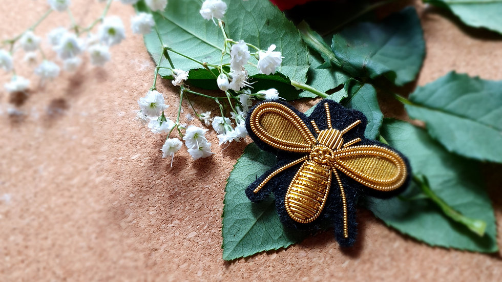 Wasp  - Gold Work Brooch
