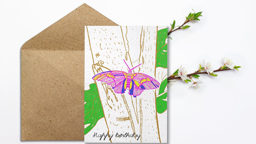 Seed embed plantable greeting card-Butterfly