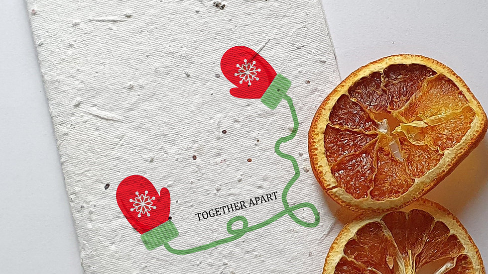 seed embed plantable greeting card ,together apart