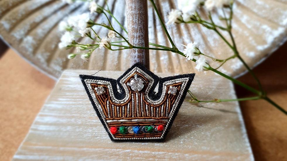 King Crown - Gold Work Brooch